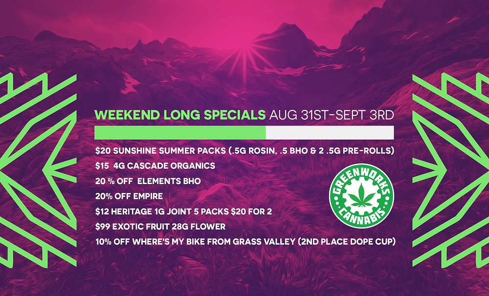 Greenworks specials