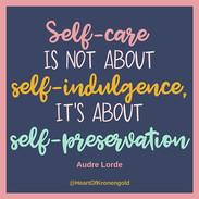 Repeat after me: Self-care isn't selfish