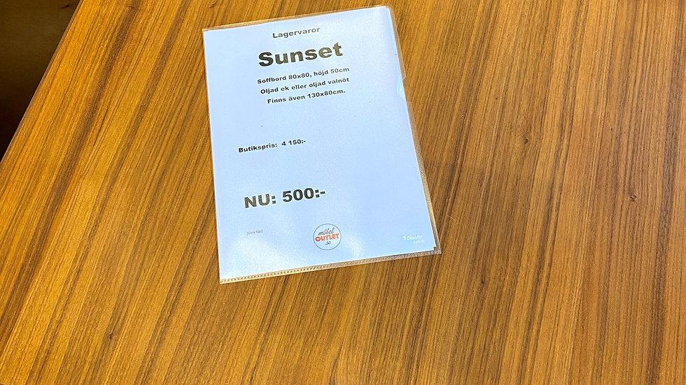 Sunset soffbord 80x80 alt 130x80