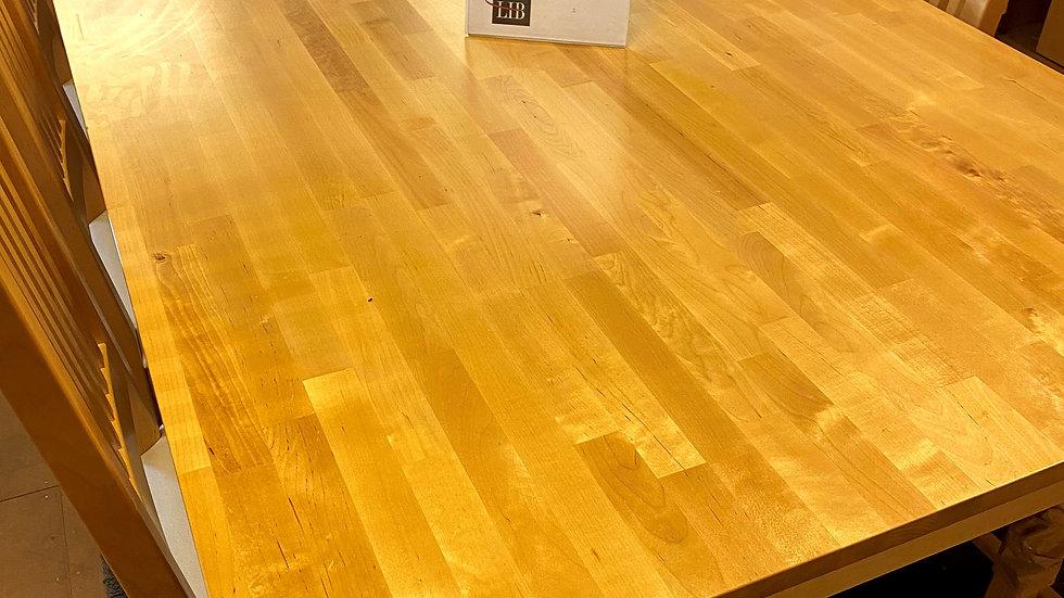 Matbord + 6 stolar lackad björk 180x110