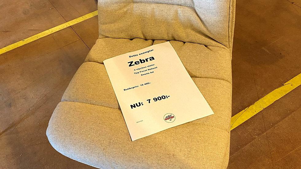 Zebra stolar 4st