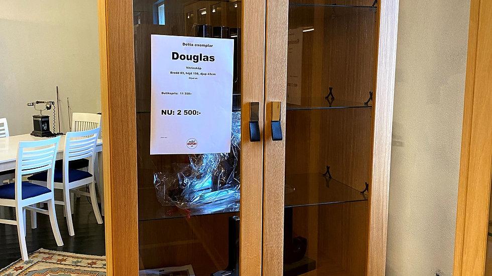 Douglas vitrinskåp