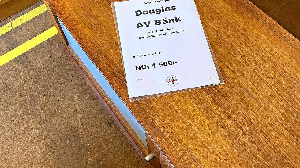 Douglas avbänk oljad valnöt