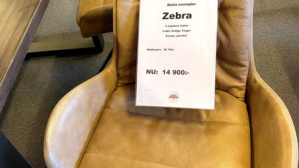 Zebra stol 4 st