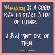 Monday is a good day to start a lot of things.