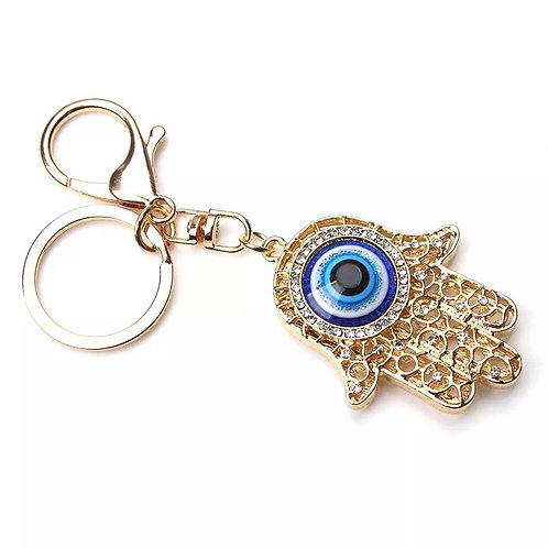 Hamsa eye key chain