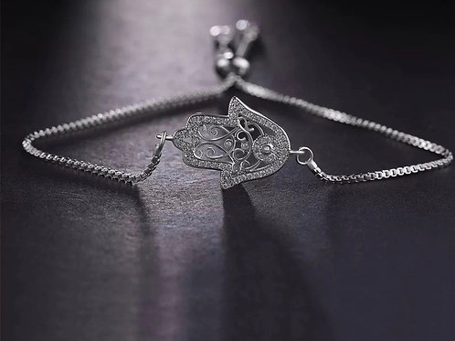 Hamsa Good Vibes bracelet