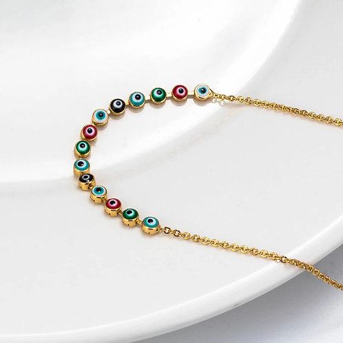 Gold colorful anklet