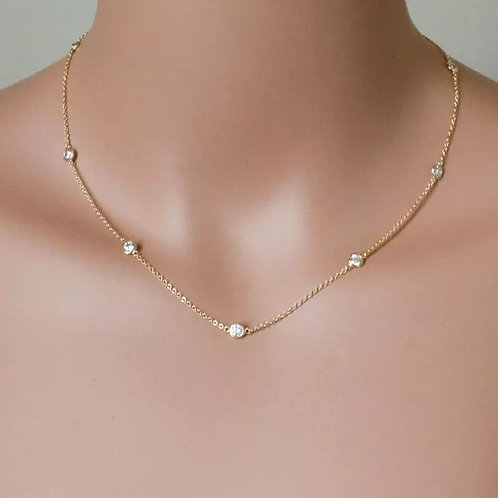 Diamond scatter necklace