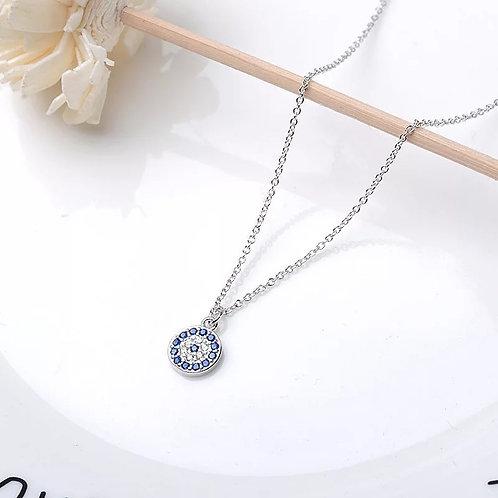 Evil eye necklace & bracelet set