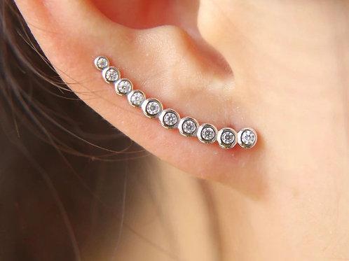 Diamond ear climber