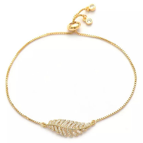 Lucky Feather pull tie bracelet