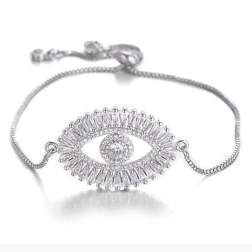 Sparkling Evil Eye bracelet - silver
