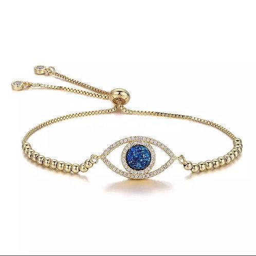 Majestic crystal eye bracelet