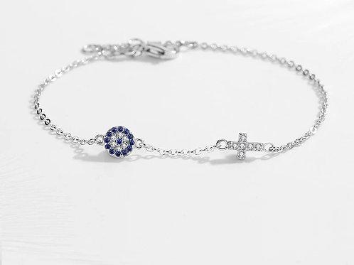 Simplicity Bracelet with Cross