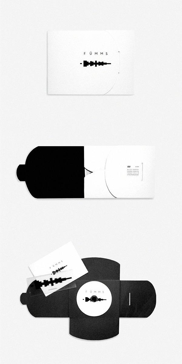 Design graphique, graphisme, Identité visuelle, Thomas Soulié, FÜMMS, groupe de musique expérimentale, pochette album cd, logo