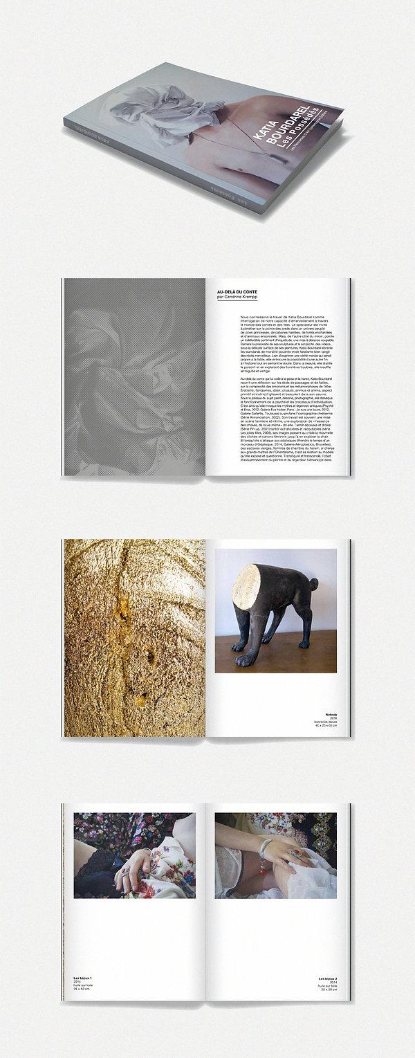 """Design graphique, graphisme, Identité visuelle, Thomas Soulié, Exposition """"Les Possédés"""" de Katia Bourdarel - Les Rencontres d'Art Contemporain, Cahors - Catalogue d'exposition"""