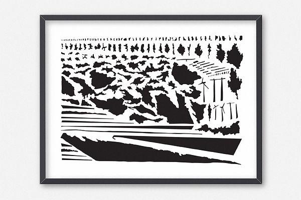 Design graphique, graphisme, Identité visuelle, Thomas Soulié, La traversée, édition unique