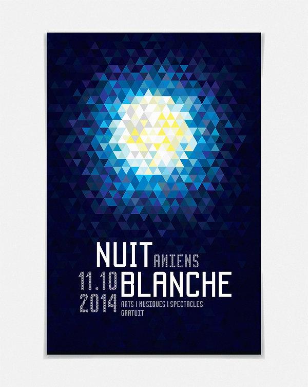 Design graphique, graphisme, Identité visuelle, Thomas Soulié, Affiche Nuit Blanche