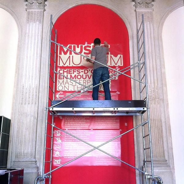Design graphique, graphisme, Identité visuelle, Thomas Soulié, signalétique, entrée musée rodin paris, montage exposition