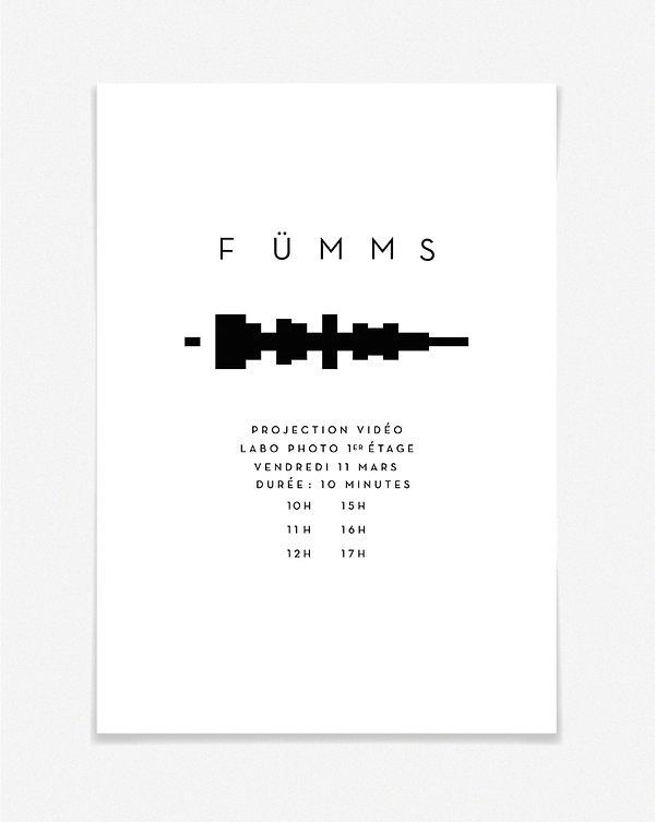 Design graphique, graphisme, Identité visuelle, Thomas Soulié, FÜMMS, groupe de musique expérimentale, affiche, projection vidéo