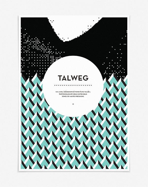 Design graphique, graphisme, Identité visuelle, Thomas Soulié, Magazine scientifique Talweg, poster, affiche
