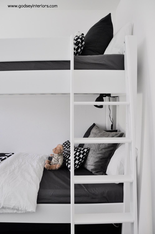 Monochromatic Boys Room - Godsey Interiors