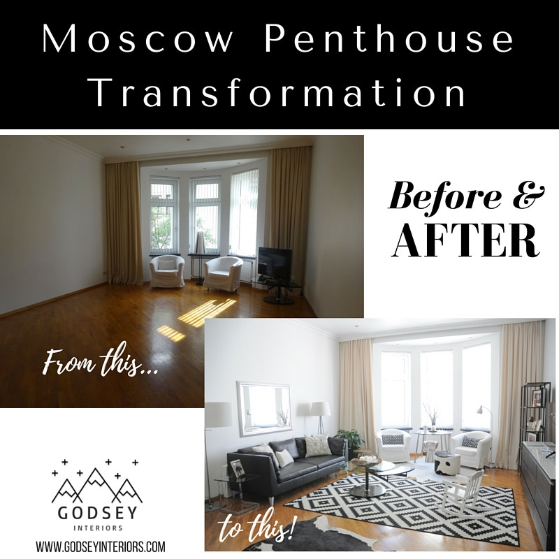 Moscow Penthouse Transformation - Before and After
