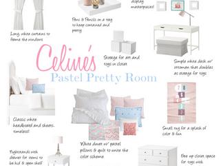 Pastel Pretty Girl's Bedroom
