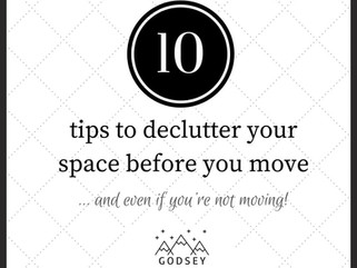 10 tips to declutter your space before you move!
