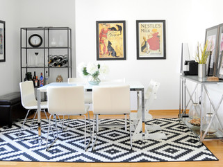 Black and White Family Dining Room