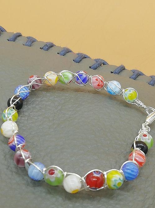 Bracelet - Beaded Wire Multicolour