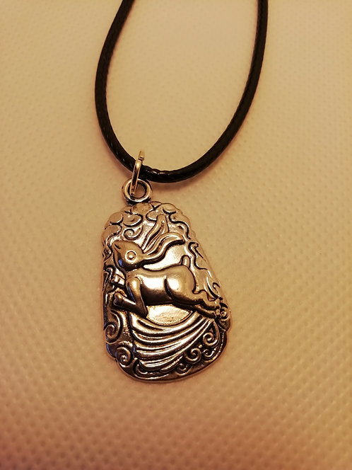 Necklace - Leaping Hare Silver