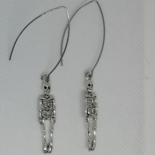 Earrings - Long Skeletons