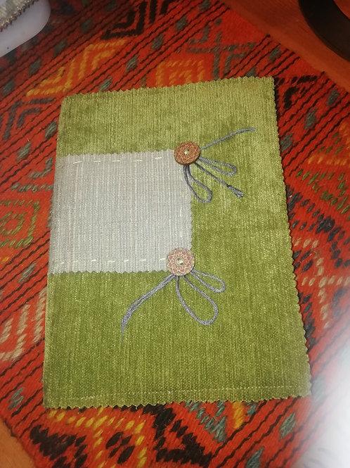 Covered Notebook - Sage Green Velvet