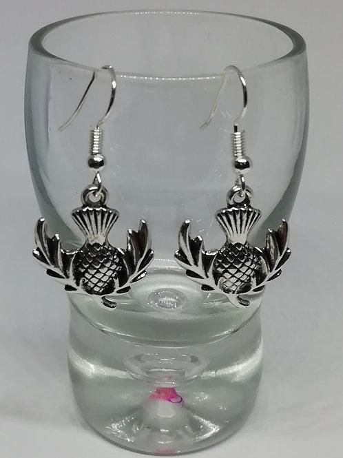 Earrings - Large Thistles