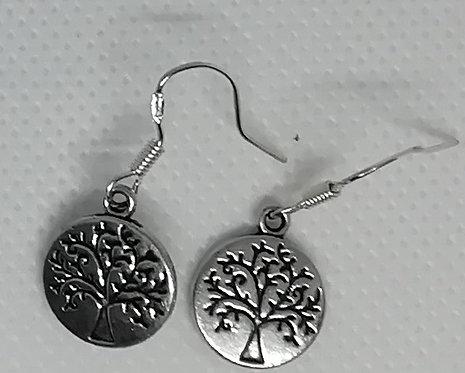 Earrings - Disc Trees