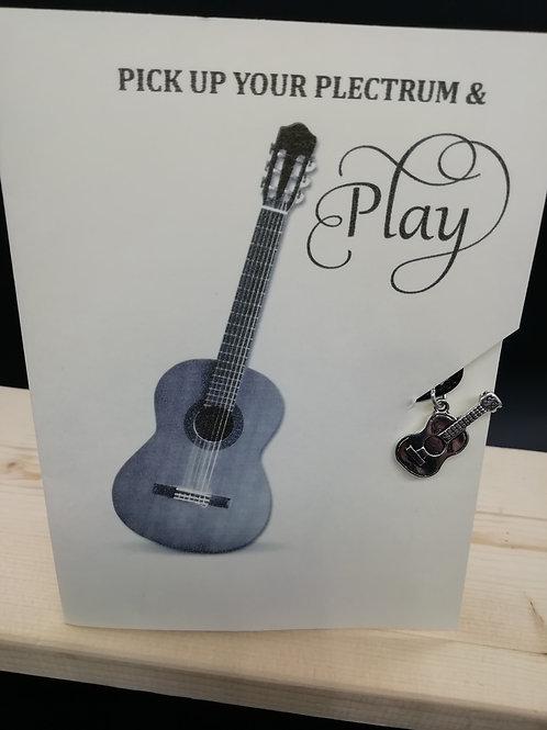 Card - Pick Up Your Plectrum Acoustic Guitar