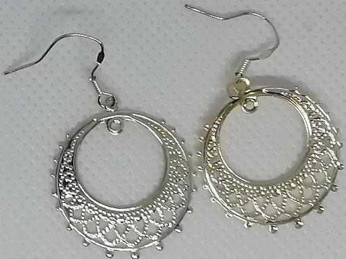 Earrings - Filigree Hoops