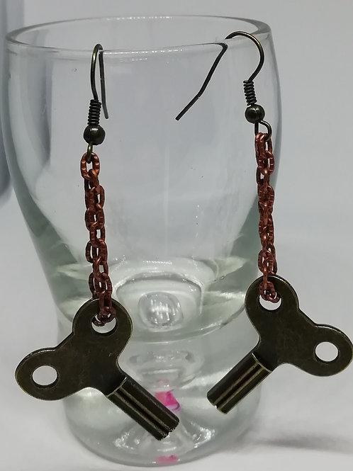 Earrings – Brass Key Chain 2
