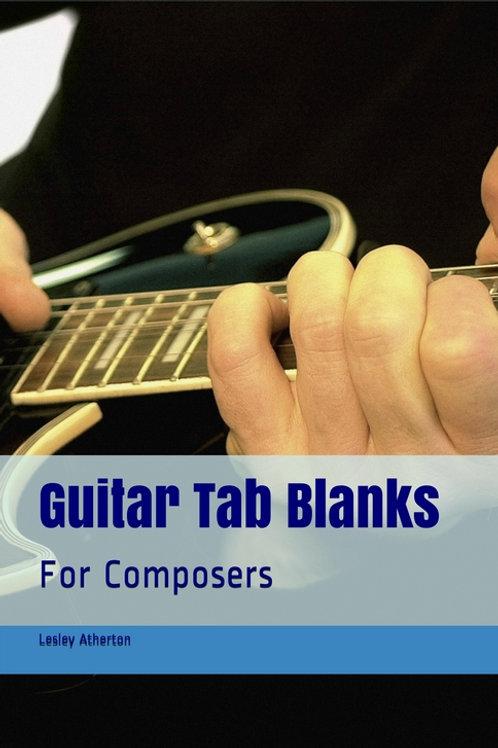Guitar Tab Blanks