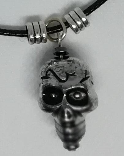 Necklace - Light Silver Skull