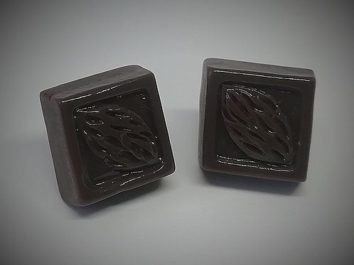 Earrings - Chocolate Squares