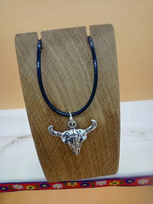 Necklace - Silver-Coloured Sheep Skull with Horns