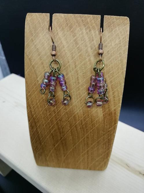 Earrings - Pale Purple Beads