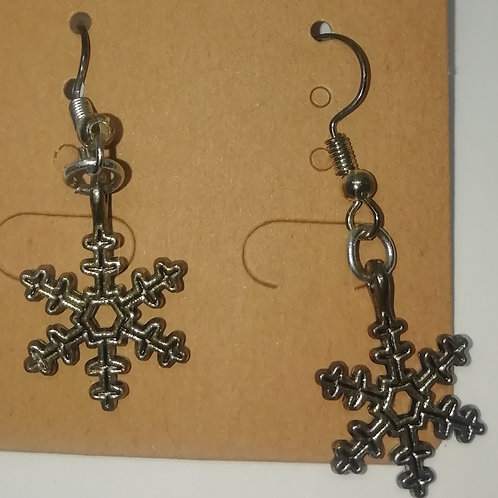 Earrings - Snowflakes