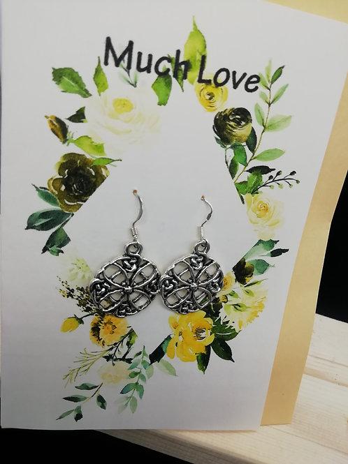 Card - Much Love Yellow Flowers Earrings