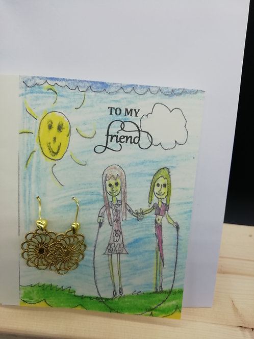 Card - To My Friend Gold Filigree