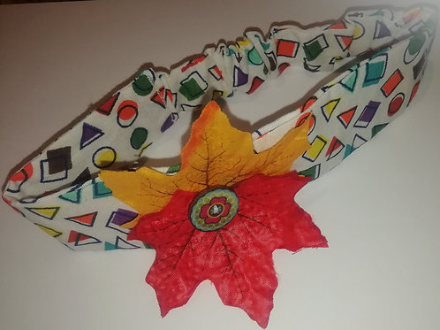 Headband - Child/Baby Cotton Shapes Autumn Leaves