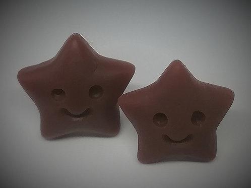 Earrings - Chocolate Stars
